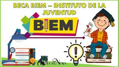 Beca Biem – Instituto de la Juventud: Convocatoria, Registro y Requisitos