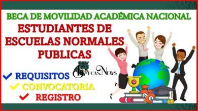 Beca de Movilidad Académica Nacional para Estudiantes de Escuelas Normales Publicas 2021-2022 Convocatoria, Registro y Requisitos