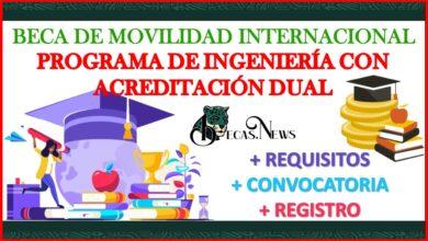 Beca de Movilidad Internacional Programa de Ingeniería con Acreditación Dual 2021-2022 Convocatoria, Registro y Requisitos