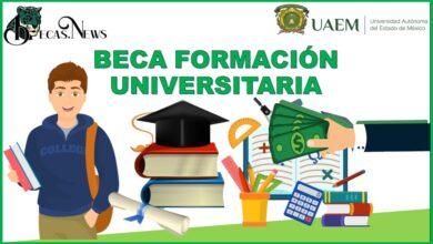 Beca formación universitaria 2021-2022: Convocatoria, Registro y Requisitos