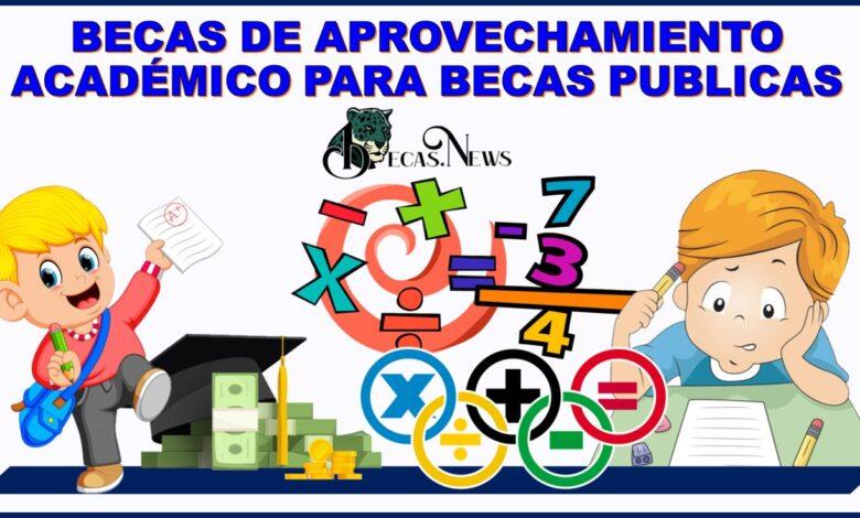 Becas de Aprovechamiento Académico Para Becas Publicas, para el periodo correspondiente a los años 2020 y 2021