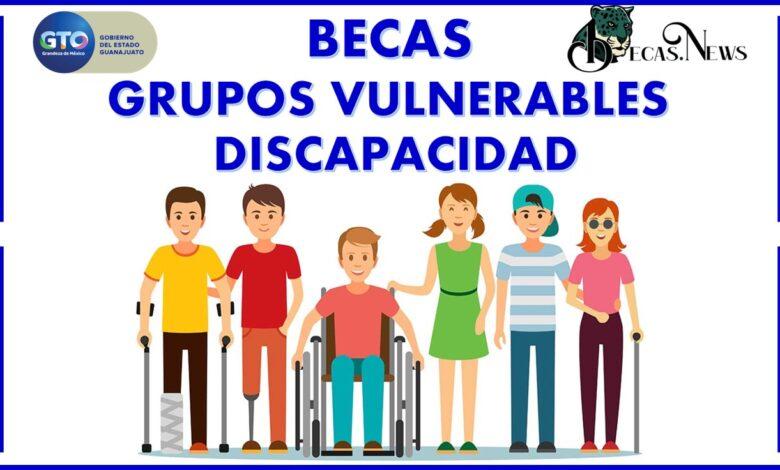Becas grupos vulnerables discapacidad: Convocatoria, Registro y Requisitos