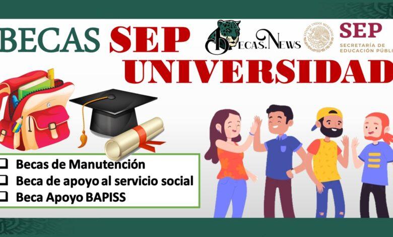 Becas SEP Universidad 2021-2022: Convocatoria, Registro y Requisitos