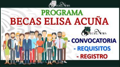 Convocatorias de las Becas Elisa Acuña 2021-2022 Convocatoria, Registro y Requisitos